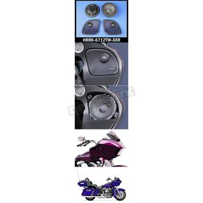 J&M Corporation Rokker XXR 6.71 in. Fairing  Speaker Kit w/High-Output Grill Mounted Tweeters - HRRK-6712TW-XXR