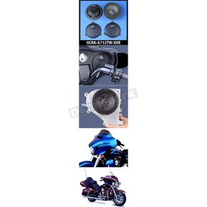 J&M Corporation Rokker XXR 6.71 in. Fairing  Speaker Kit w/High-Output Grill Mounted Tweeters - HCRK-6712TW-XXR