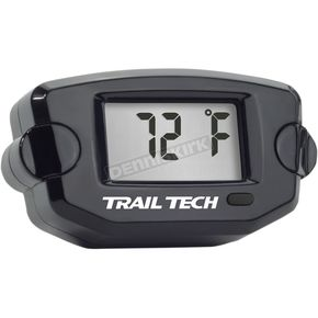 Trail Tech Black TTO Digital Temperature Meter - 22mm Radiator Hose Sensor - 742-EH2