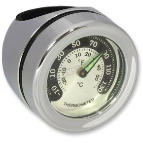 Chrome Handlebar-Mount Thermometer for 1-1/4 in. Handlebars - 2212-0726