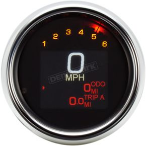 3 3/8 in. Chrome MLX-3012 Series Speedometer Gauge - MLX-3012