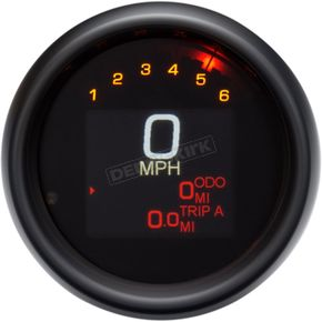 3 3/8 in. Black MLX-3000 Series Speedometer Gauge - MLX-3000-K