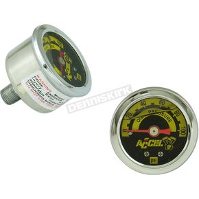 Stainless/Chrome 0-100 PSI Oil Pressure Gauge - 7122