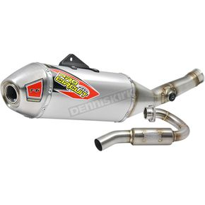Pro Circuit T-6 Stainless/Aluminum/Stainless Exhaust System w/Removable Spark Arrestor - 0121745G