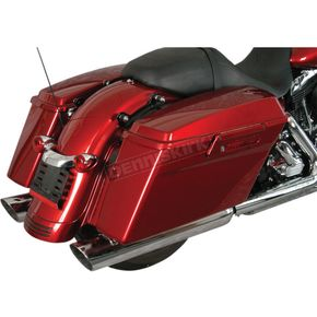 Mac Chrome Slash Back 4 in. Slip-On Mufflers - 060-0114