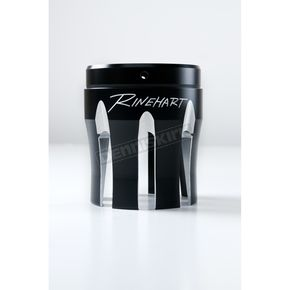 Rinehart Black 3.5 in. Castle Style Machined End Cap - 900-0218