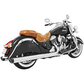 Freedom Performance Chrome 4 in. Liberty Slip-On Mufflers w/Black Tip - IN00042