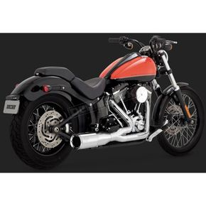 Vance & Hines Chrome Hi-Output 2-into-1 Short Exhaust System - 16543