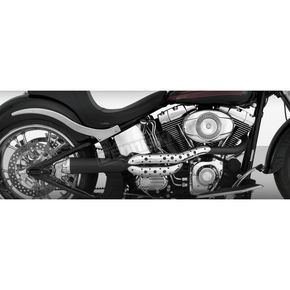 Roland Sands Design Chrome/Black Track 2-into-1 High Pipe Exhaust - 11821