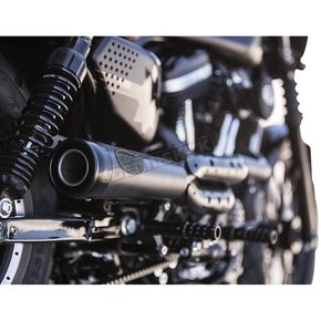 Roland Sands Design Black Ops Track 2-into-1 High Pipe Exhaust - 11823