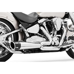 Chrome 4.5 in. Combat Slip-On Exhaust - MH00018