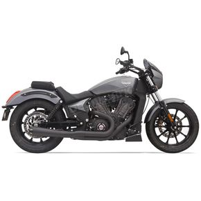 Bassani Short Road Rage Megaphone 2 Into 1 Exhaust - 6O12RB