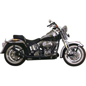 Black 1-3/4 in. 2-2 Upsweep Fishtail Exhaust - 726SBSB