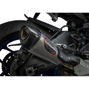Yoshimura Street Alpha T Series Stainless/Carbon Fiber Works Finish Slip-On Muffler - 13141BP520