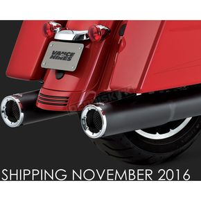 Vance & Hines Matte Black 4 1/2 in. Hi-Output Slip-On Mufflers - 46463