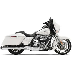 Bassani Chrome Road Rage 2-Into-1 System w/4 in. Megaphone Muffler Housing - 1F51R