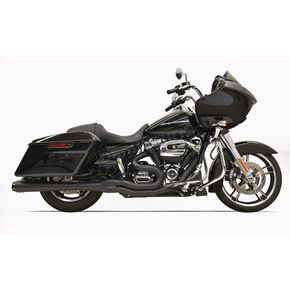 Bassani Black Road Rage 2-Into-1 System w/4 in. Megaphone Muffler Housing - 1F51RB