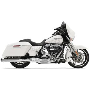Bassani Chrome Road Rage 2-Into-1 System w/4 in. Straight Can  Muffler Housing - 1F58R