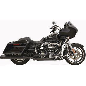 Bassani Black True-Dual Down Under Headpipes w/Heat Shields - 11525A