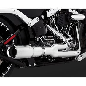 Chrome Hi-Output 2-into-1 Short Exhaust System - 16545