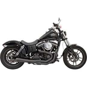 Bassani Black Road Rage II Mega Power 2-Into-1 System - 1D32RB