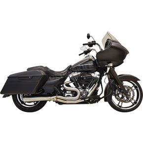 Bassani Long Road Rage III 2-Into-1 System w/ 4 in. Straight Can Muffler - 1F18SS