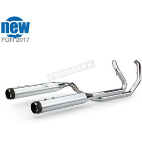 S&S Cycle Chrome/Black El Dorado-MK45 Muffler/Header Package w/Thruster End Caps - 550-0677A
