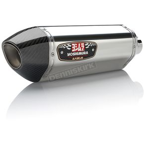 Yoshimura R-77 Signature Series Stainless/Carbon Fiber Slip-On Muffler - 14360BJ520