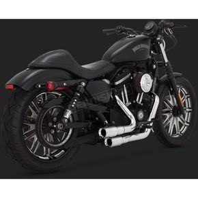 Vance & Hines Chrome Mini-Grenades 2-Into-2 Exhaust System - 16874