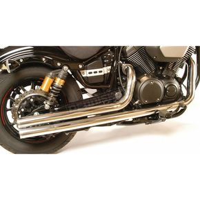 Mac Chrome 2 1/4 in. Fat Stakker Exhaust System - 004-0924