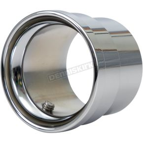 Chrome Straight-Cut Billet Exhaust Tip - PT-1023P