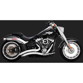 Chrome Big Radius 2-Into-2 Exhaust - 26075