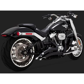 Black Big Radius 2-Into-2 Exhaust - 46075