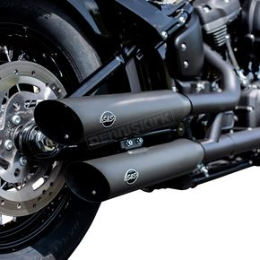 Black Ceramic Slash-Cut Mufflers - 550-0735
