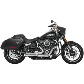 Chrome 2-Into-1 Turnout Exhaust System - HD00808
