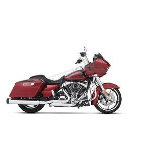 Chrome 4.5 in. DBX45 Mufflers w/Black Tradition End Caps - 500-0185