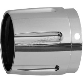 Chrome 4 in. Taper w/ Horizontal Groove Performance Exhaust Tip - 4017