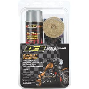 Tan Wrap w/ Aluminum HT Silicone Coating Exhaust Wrap Kit - 901331