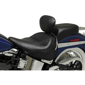 Mustang Seats Wide Vintage Solo Seat W/Driver Backrest - 79916