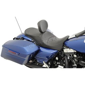 Drag Specialties Mild Stitch Forward-Positioning Low Profile Touring Seats /w EZ Glide II Backrest - 0801-1010