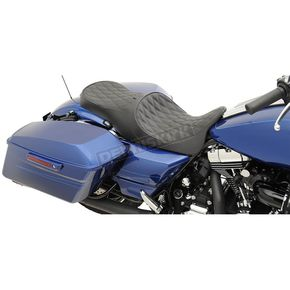 Double Diamond Stitch Forward-Positioning Low Profile Touring Seats w/EZ Glide II Backrest System - 0801-1011