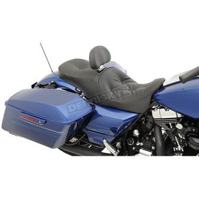 Drag Specialties Pillow Top Stitch Forward-Positioning Low Profile Touring Seats /w EZ Glide II Backrest - 0801-1012