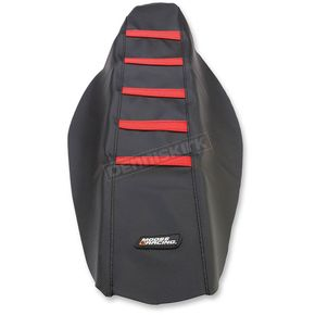 Moose Black/Red Ribbed Seat Cover - 0821-2614