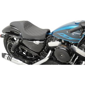 Drag Specialties Black Diamond Stitch 1-Up Caballero Seat - 0804-0666