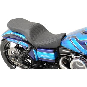 Drag Specialties Double Diamond Low Profile Touring Seat - 0803-0557