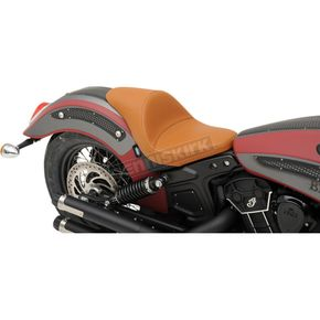 Drag Specialties Brown Mild Stitch 3/4 Solo Seat - 0810-1988