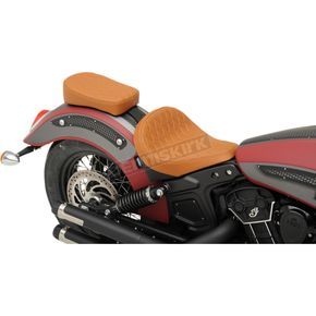 Drag Specialties Brown Diamond Stitch Bobber-Style Rear Pillion Pad - 0810-1994