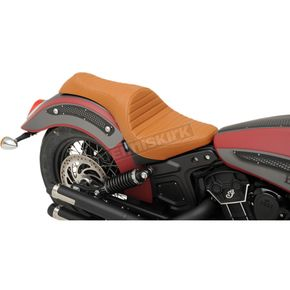Drag Specialties Brown Classic Stitch Caballero Seat - 0810-1998