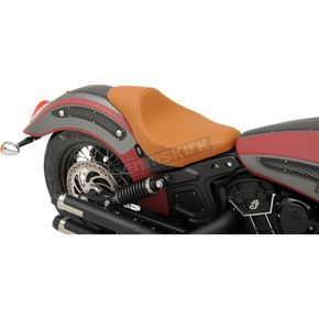 Drag Specialties Brown Extended Reach Mild Stitch 3/4 Solo Seat - 0810-2000