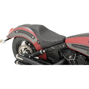 Drag Specialties Black Extended Reach Diamond Stitch 3/4 Solo Seat - 0810-2003